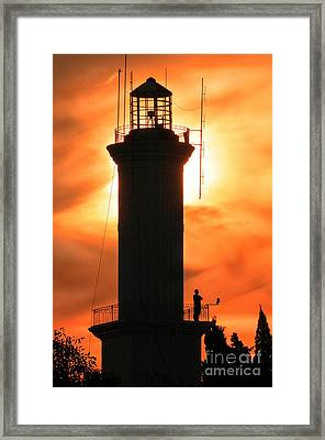 Framed Print featuring the photograph Lighthouse I by Bernardo Galmarini