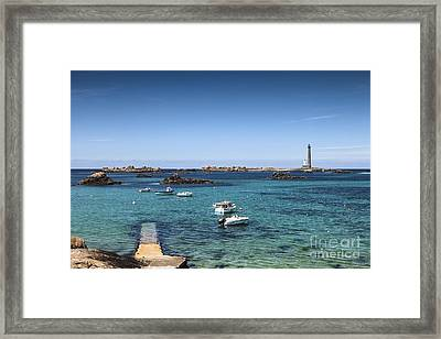 Lighthouse Ile Vierge Brittany France Framed Print by Colin and Linda McKie