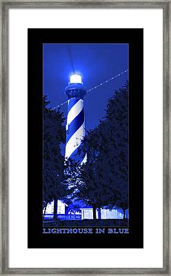 Lighthouse In Blue Framed Print