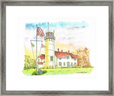 Lighthouse In Cape Code - Massachussetts Framed Print