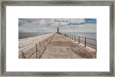 Lighthouse In North Shields Framed Print