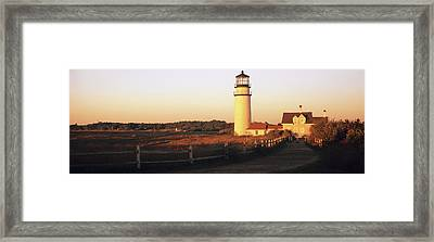 Lighthouse In The Field, Highland Framed Print by Panoramic Images