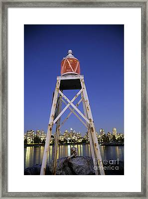 Lighthouse In Vancouver  Canada Framed Print by Ryan Fox