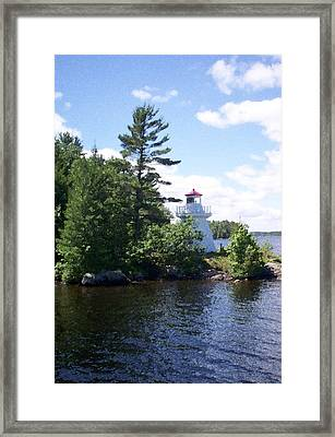 Lighthouse Island Framed Print