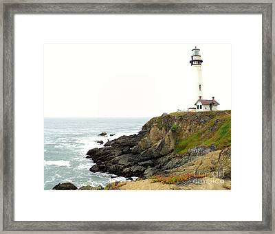 Lighthouse Keeping Watch Framed Print by Carla Carson