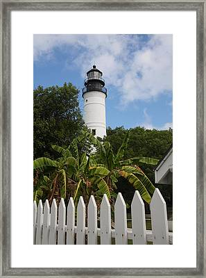 A Sailoirs Guide On The Florida Keys Framed Print