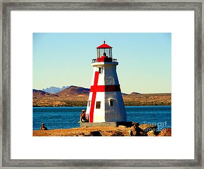 Lighthouse Lake Havasu Framed Print by John Potts