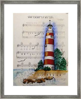 Lighthouse Framed Print by Laura Marie