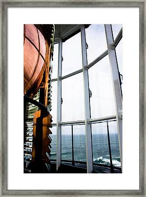 Lighthouse Lens Framed Print