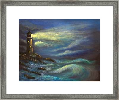 Lighthouse Lights Framed Print