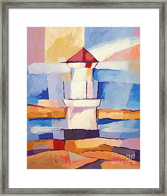 Lighthouse Framed Print by Lutz Baar