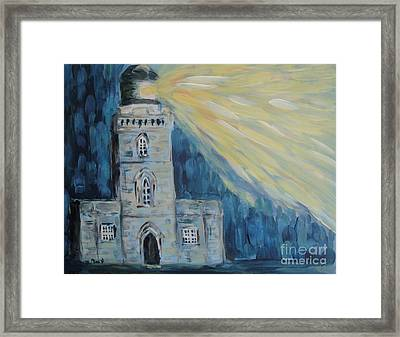 Framed Print featuring the painting Lighthouse by Maria Langgle