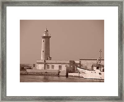 Lighthouse Marsala Framed Print