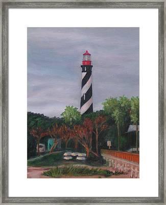 Lighthouse Morning Framed Print