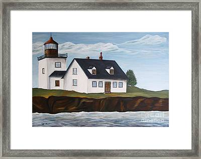 Lighthouse - New England Coast Sold Framed Print by Christiane Schulze Art And Photography