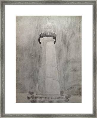 Lighthouse Framed Print by Noah Burdett