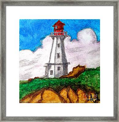 Lighthouse Nova Scotia Framed Print by Anita Lewis