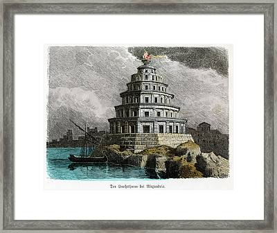 Lighthouse Of Alexandria Framed Print by Cci Archives