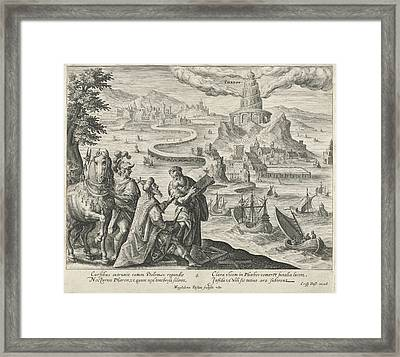 Lighthouse Of Alexandria, Magdalena Van De Passe Framed Print by Magdalena Van De Passe And Maerten De Vos And Crispijn Van De Passe (i)