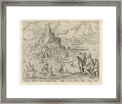 Lighthouse Of Alexandria, Philips Galle, Hadrianus Junius Framed Print by Philips Galle And Hadrianus Junius
