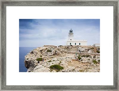 Lighthouse Of Caballeria Framed Print by Antonio Macias Marin