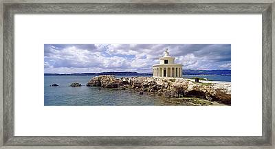 Lighthouse Of Saint Theodoroi Framed Print