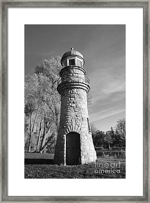 Lighthouse Of Stone Framed Print by Kathleen Struckle