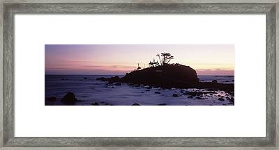 Lighthouse On A Hill, Battery Point Framed Print by Panoramic Images