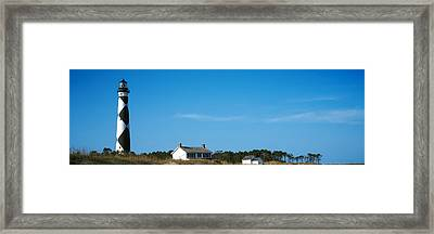 Lighthouse On An Island, Cape Lookout Framed Print by Panoramic Images