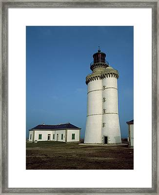 Lighthouse On An Island, Stiff Framed Print