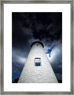 Lighthouse On Boblo Island Framed Print