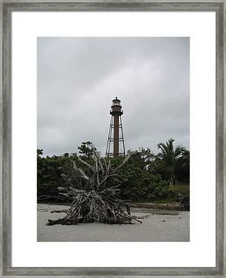 Lighthouse On Sanibel Island Framed Print by Christiane Schulze Art And Photography