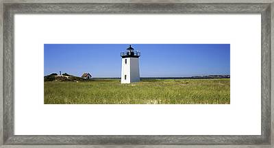 Lighthouse On The Beach, Long Point Framed Print by Panoramic Images