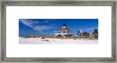 Lighthouse On The Beach, Port Boca Framed Print by Panoramic Images