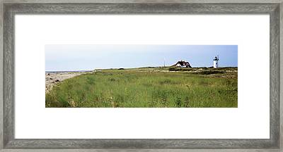 Lighthouse On The Beach, Race Point Framed Print by Panoramic Images