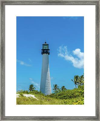 Lighthouse On The Coast, Bill Baggs Framed Print