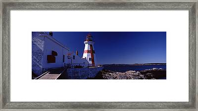 Lighthouse On The Coast, Head Harbour Framed Print by Panoramic Images
