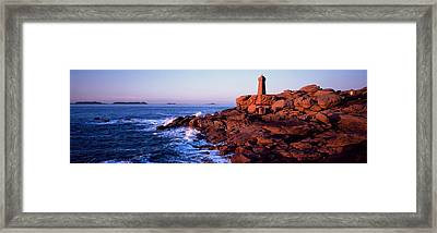 Lighthouse On The Coast, Ploumanach Framed Print