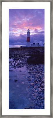 Lighthouse On The Coast, Portland Bill Framed Print