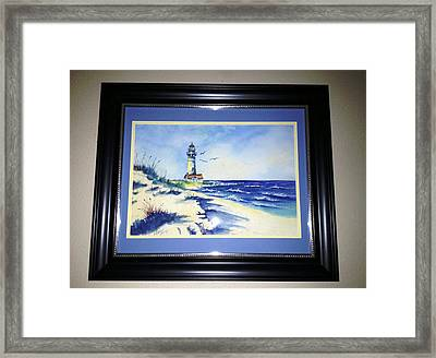 Lighthouse On The Point Sold Framed Print
