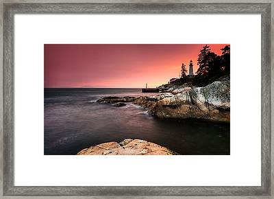 Lighthouse Park Framed Print