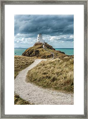 Lighthouse Path Framed Print by Adrian Evans