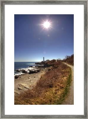Lighthouse Path Framed Print by Joann Vitali