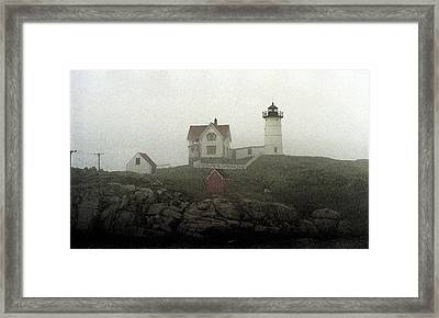 Lighthouse - Photo Watercolor Framed Print by Frank Romeo