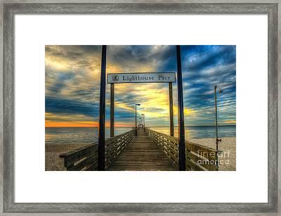 Lighthouse Pier Framed Print