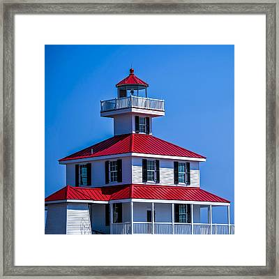 Lighthouse Pontchartrain Framed Print by Renee Barnes