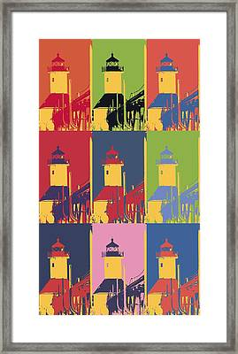 Lighthouse Pop Art Framed Print by Dan Sproul