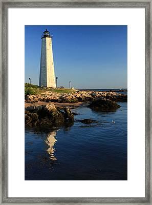 Lighthouse Reflected Framed Print by Karol Livote