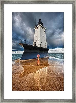 Lighthouse Reflection Framed Print
