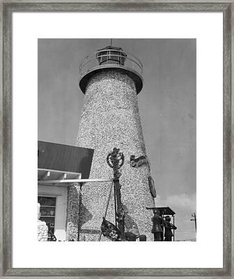 Lighthouse Framed Print by Retro Images Archive